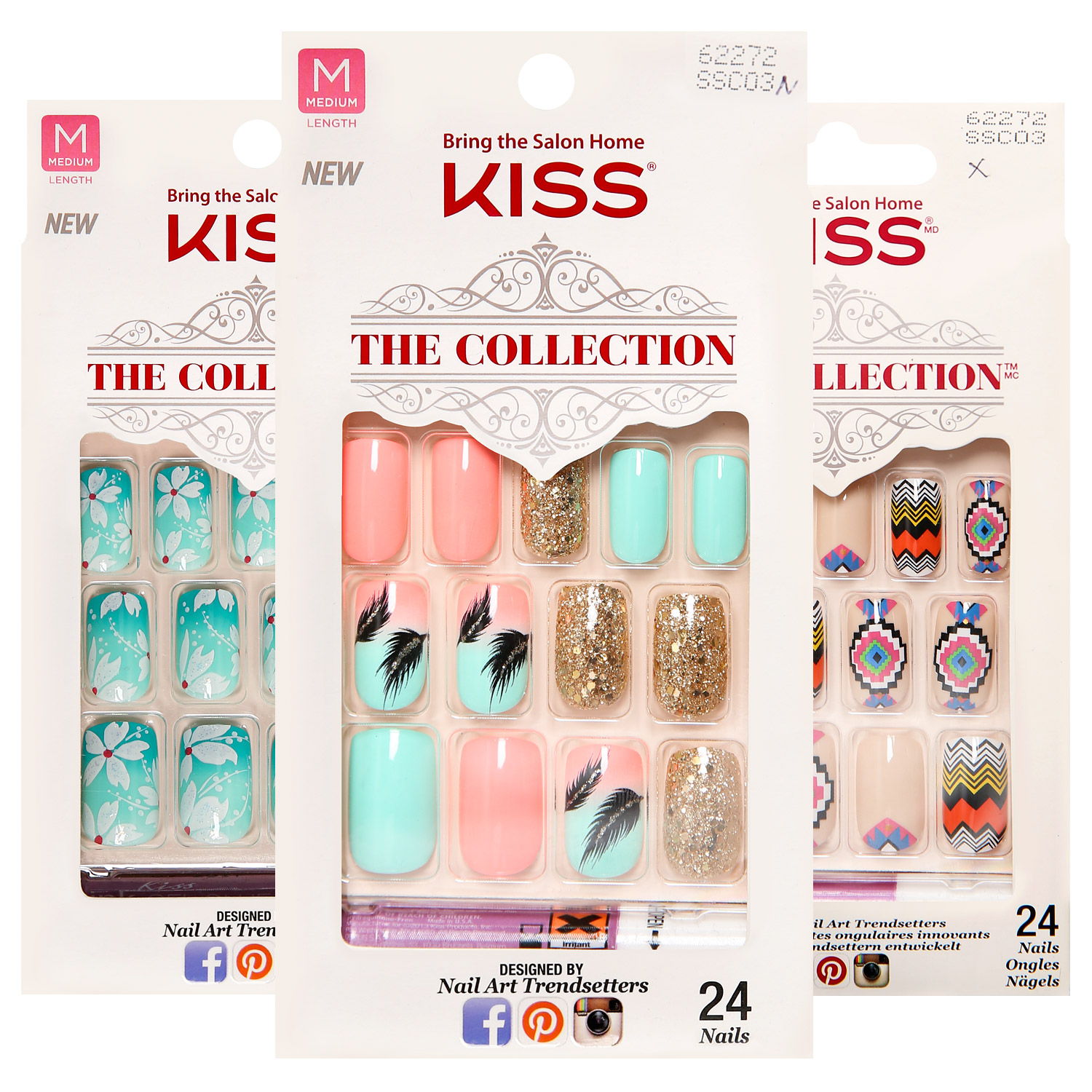 Kiss The Collection 24 Nail Kit - Ikatehouse